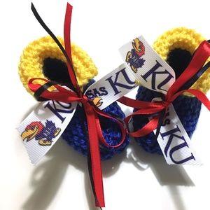 University Of Kansas JAYHAWKS Baby Booties